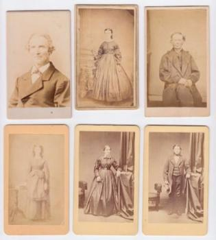 1870's 12 CDV Photos Gunning Family, Marshall, Dane County Wisconsin