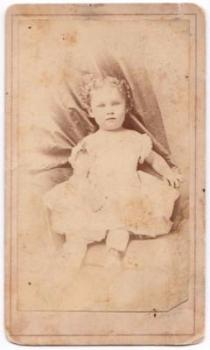 1860's Katie Moody CDV Photo, Civil War era, St. Louis Missouri