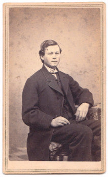 1860's Simeon Stearns CDV Photo, Co. K 7th NH Civil War, Manchester NH