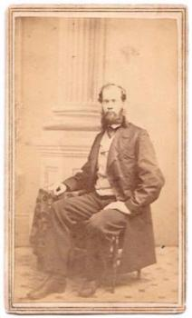 1860s George Ransom Osborn Civil War CDV Photo: Ilion NY Bridgeport CT