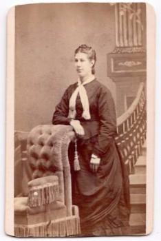 1875 Maggie Pixler Brownmiller CDV Photo by Late Huffman, Postville IA