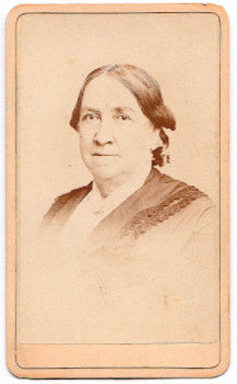 1870's Betsey Williams Bush CDV Photo, Springfield, Hampden County MA