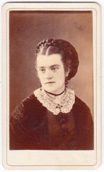 1876 Mary Grunendike Haworth CDV Photo, Decatur, Macon County Illinois