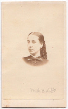 1860's M.L.B. Libby Family CDV Photo, Civil War era, Portland, Maine
