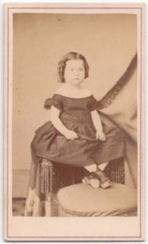 "1860's Martha Augusta McDade, ""Mattie"" CDV Photo, Montgomery, Alabama"