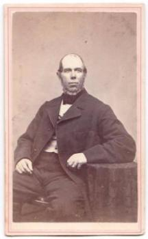 1860's Nathaniel Smith Mowry CDV Photo, Providence County Rhode Island