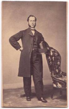 1860's William L. Parker CDV Photo, born in Springfield, Massachusetts