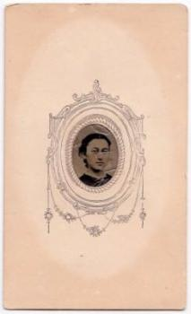 1860's Arabella Fisk Civil War CDV Tintype Photo, Dublin, Cheshire NH
