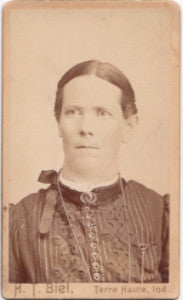 1870-80's Bertha Spears CDV Photo, Terre Haute, Vigo County, Indiana