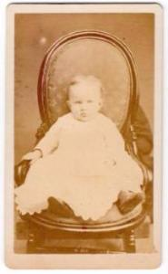 1870's Nellie Edith Judson Lawrence CDV Photo Arlington, Sunderland VT