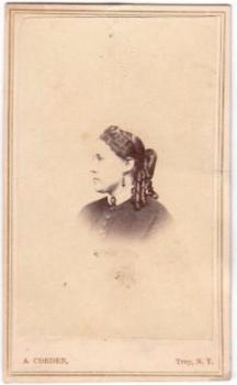 1864 Ann Taintor Johnson Civil war era CDV Photo, Troy NY & Windham CT