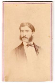 1870's Charles C. Heisley ID'd CDV Photo, 28th PA Civil War Musician