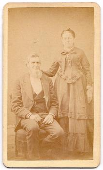 1870's Mr. & Mrs. Bud or Budd family CDV Photo, Poughkeepsie, New York