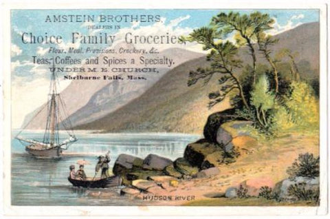 1880's Amstein Brothers Advertising Trade Card, Shelburne Falls MA