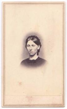 1860's Sallie Barry Howe CDV Photo, wife Albion Howe, Owego, New York