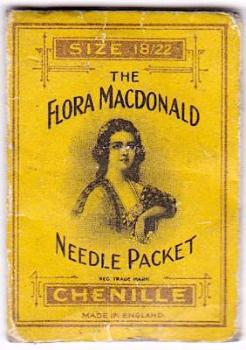 1885 Flora MacDonald Needle Case, Abel Morrall Co. Redditch, England