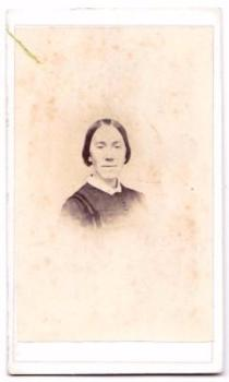 1870s Alice Jane Stringer Clark CDV Photo, Hamilton, Madison County NY