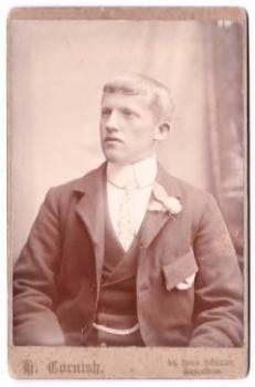 1880's George Withridge Cabinet Card Photo, Credition, Devon, England