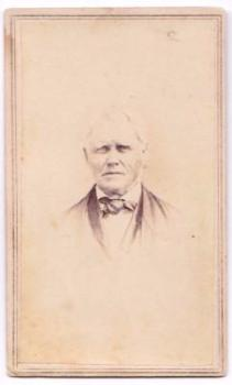 1864 Josiah Lee CDV Photo, born 1796, Albion, Ashland County, Ohio