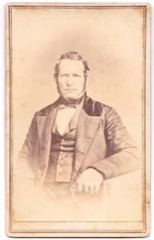 1860's George A. Noble Civil War era CDV Photo, Westfield, Hampden MA