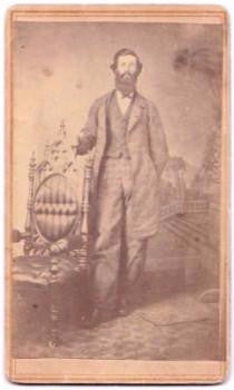 1864 James Michael Reasor, 14th KY Civil War CDV Photo, Shelbyville KY