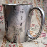 1880's Antique Inscribed Baggot Family Tankard Mug, Dublin, Ireland