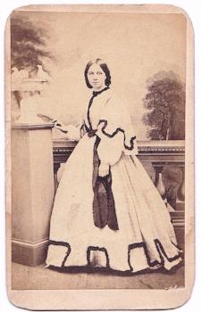 1860s Ellen Adams CDV Photo, sister of Julius John Adams, Wye, Kent UK