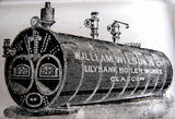 1890's William Wilson & Co. Lilybank Boiler Works Antique Paperweight
