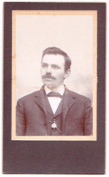 1880's Nicolaus Nielsen CDV Photo, Olivia, Renville County, MN Danish