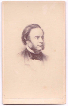 1860's Quaker John Bright Original Antique Vintage CDV Photograph