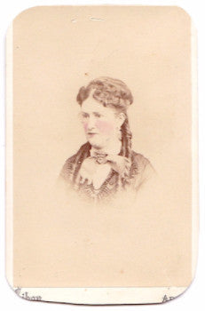 1869 Bella / Isabella Shaw CDV Photo, Norristown, Montgomery County PA