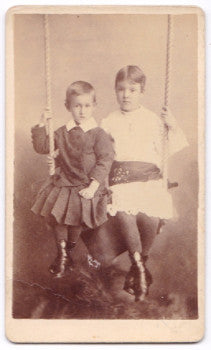 1884 Irma Herrick Finney & Volney Herrick Photo, New Philadelphia Ohio