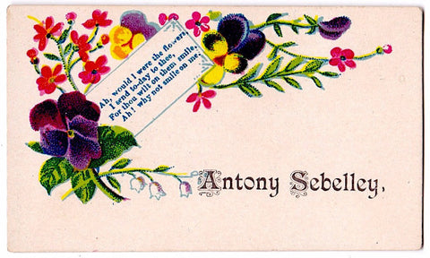 1880's Antony Sebelley Vintage Victorian Calling Card (Anthony)