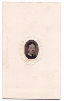 1850's William Hunt Tilden wife Emily Allyn Tintype Photo, Palmyra NY