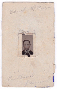 1860's Daniel Webster Rugg Tintype Photo, Rutland Vermont, Connecticut