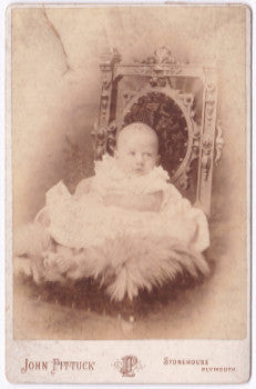 1893 Richard Wolfe Wagner Cabinet Card Photo, Plymouth, Devon, England