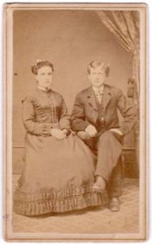 1860's Martha Beagle & William Beagle Civil War era ID'd CDV Photo