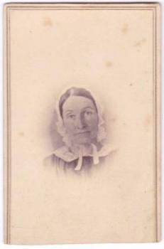 1860's Eunice Whittemore Pingry CDV Photo, Groton, Middlesex County MA