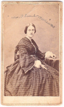 1860's Lucinda Ayres Merriams CDV Photo, wife Flavel Merriam, OH & CT