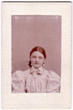 1897 Maggie Rutherford Victorian era Photograph, Born about 1888-1890