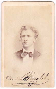 1871 Armin or Arminius Briegleb CDV Photo, Jersey City, NJ Lawyer