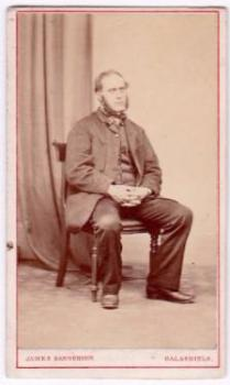 1860's William Clark CDV Photo, Scotland to Amesbury MA to Elmira NY