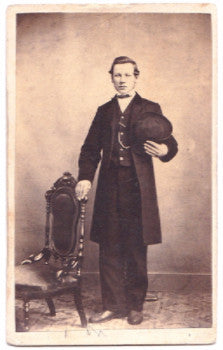 1860's George Peter Wagner CDV Photo, Lewisburg, Union County, PA