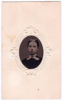 1860's Fannie Beebe CDV Tintype Photo, North Hebron NY (Justin Beebe)