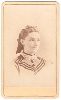 1870's Bertha Schmidt Weberling CDV Photo, Peru, LaSalle IL (Theodore)