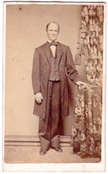 1864 Eli Burhouse CDV Photo, Philadelphia Hugh Whitely Dry Goods Store