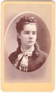 1870's Alice C. Storrs Photo CDV Photo, Lebanon NH, daughter of Abel