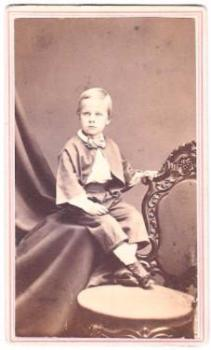 1864 Fred Thurston Aldridge CDV Photo, son of Volney, NYC Homeopath