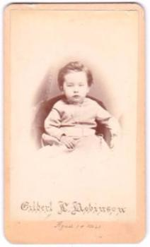 1875 Gilbert Levi Robinson CDV Photo, Lincoln, Nebraska & Sparta NY