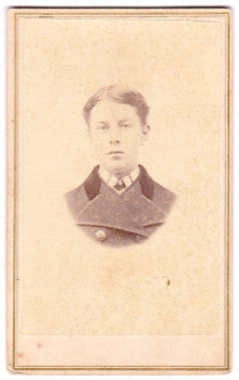 1860's Ned Arthur Bailey CDV Photo, Haverhill, Grafton County, NH